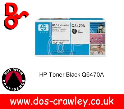 Toner Black Genuine HP 3600, 3800 Q6470A
