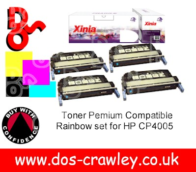 Toner #Premium Compatible Rainbow Set for HP CP4005