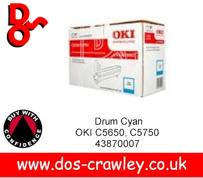 Drum Cyan EP Cartridge, OKI C5650, C5750, 43870007