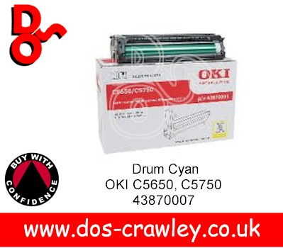 Drum Yellow EP Cartridge, OKI C5650, C5750, 43870005