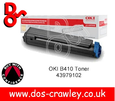 Toner Cartridge 43979102, OKI B410d Original