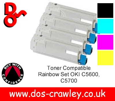 Toner Compatible # Rainbow Set OKI C5600, C5700
